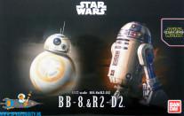 Star Wars bouwpakket BB-8 & R2-D2 1/12 schaal