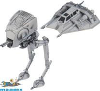 Star Wars bouwpakket vehicle model 008 AT-ST & Snowspeeder