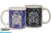 Star Wars heat change beker/mok blueprint R2-D2