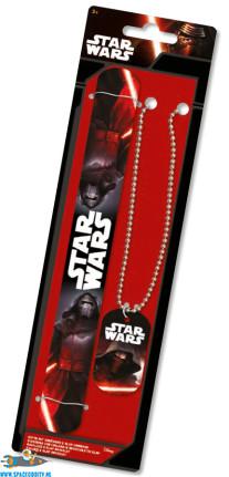 Star Wars Kylo Ren ketting & Kylo Ren slap bracelet