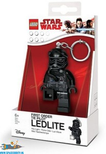 Star Wars Lego First Order Tie Pilot sleutelhanger met lichtje