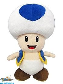 Super Mario pluche Toad (blauw)
