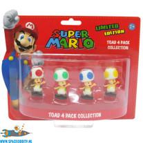 Super Mario Toad 4 pack collection mini figuren