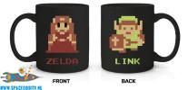 The Legend of Zelda beker/mok 8-bit Link & Zelda