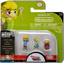 The legend of Zelda Micro Land 3 pack Outset Link, Aryll & Grandma