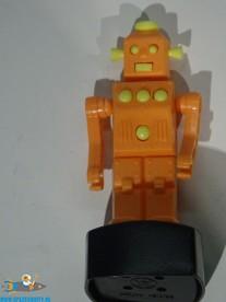 Vintage Robot push puppet oranje 11 cm