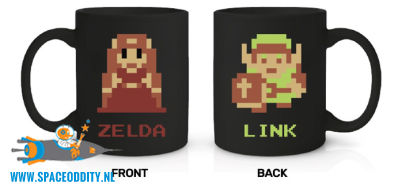 The Legend of Zelda beker/mok 8-bit Link & Zelda