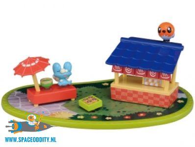 Pokemon Pitapoke PokaPoka Hot Spring mini playset