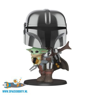 Pop! Star Wars The Mandalorian bobble head The Mandalorian with The Child super sized edition
