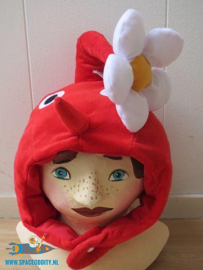Pikmin Beanie / Muts rood met bloem