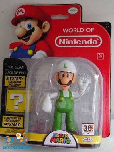 Super Mario actiefiguur Fire Luigi